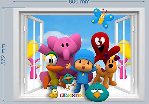 Pocoyo - Adhesivo decorativo para pared, diseño de niño y niña