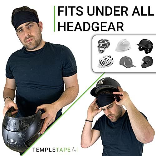 Value 2-Pack, Mens Headband - Guys Sweatband & Sports Headbands Moisture Wicking Workout Sweatbands for Running, Cross-Train, Skiing and bike helmet friendly - Value Pack - 2-Black Sweatbands - 2 Pack
