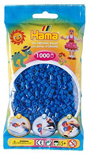 Hama - 207-09 - Loisirs Créatifs - Perles et Bijoux - Sachet 1000 Perles Bleu