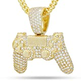 King Ice(キングアイス) PlayStation Controller Iced Classic Gold Necklace 14K プレイステーション コントローラー ネックレス ゴールド