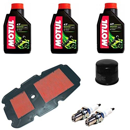 MIM Distribution Kit tagliando Manutenzione Olio filtri e Candele per Honda-Transalp XL 650V dal 2000 Fino al 2007