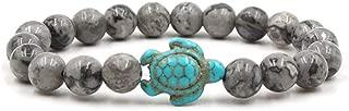 Sea Turtle Beads Bracelets For Women Men Natural Stone Elastic Bracelet Beach Jewelry