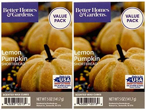Better Homes and Gardens Lemon Pumpkin Shortbread Wax Cubes 2-Pack