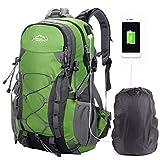 A AM SeaBlue Mochila De Senderismo, Escalada Acampar Paquete Camping Trekking Backpack USB Deporte Mochilas Verde