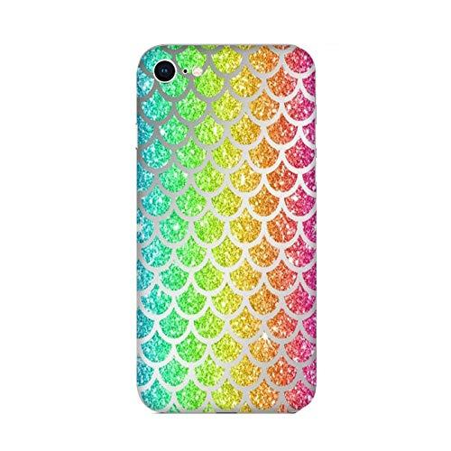 Funda iPhone 6 Carcasa Compatible con Apple iPhone 6 Cola de Sirena Copos de Arco Iris/TPU Suave Gel de Silicona/Teléfono Hard Snap en Antideslizante Antideslizante Anti-rasguño Resistente a los