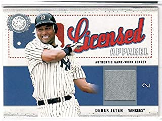 2003 Fleer Patchworks Baseball Derek Jeter Game Worn Jersey Card # 193/500