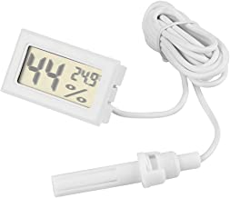 Nikou Termómetro Higrómetro 2 en 1 LCD Pantalla de Humedad de Temperatura Digital con sonda Externa para Reptiles