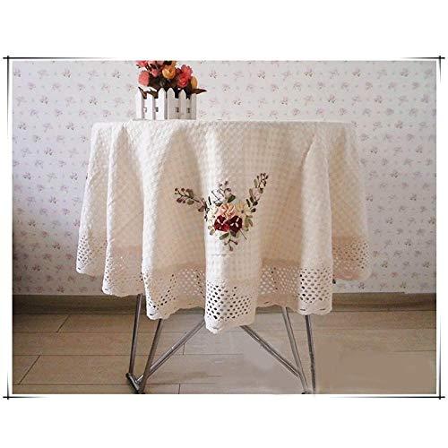 Yruog_tablecloth tovaglia tavola Tessuto all'Uncinetto Ricamato a Mano El Pranzo tovaglia di Lino tovaglia Rotonda da tavolars Decorazione della casa Come Mostrato 150x150 cm