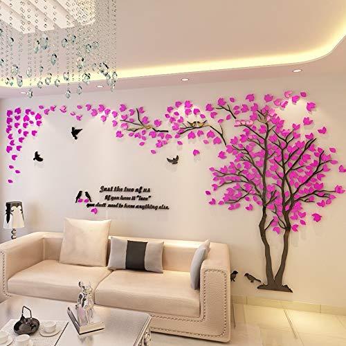 BAYUE grote grootte boom acryl decoratieve 3D-muursticker DIY kunst-TV achtergrond muur poster wooncultuur slaapkamer woonkamer muursticker