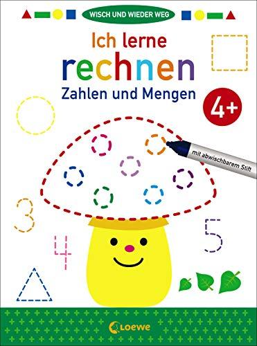 Wisch und wieder weg - Ich lerne rechnen 4+: Zahlen und Mengen - Übungen zum Erlernen von Mathematikgrundlagen für Kinder ab 4 Jahre