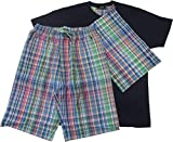 ポロ ラルフローレン Polo Ralph Lauren パジャマ ルームウエア 紳士 メンズ 半袖 半ズボン ポニー刺繍 L ネイビー 巾着袋付き 3点セット