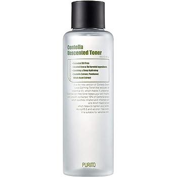 PURITO Centella Unscented Toner 6.76fl.oz/200ml, Alcohol-Free Facial Toner with 10% Centella Extract, Hydrating face Toner,pH5.5 Toner