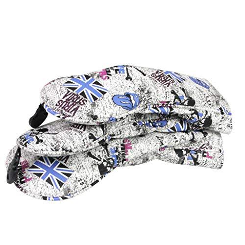 perfeclan 3 Stück PU Schlägerkopfhüllen Golf Holzkopfhüllen Driverkopfhüllen Headcover Driver Schutzhülle - Blau