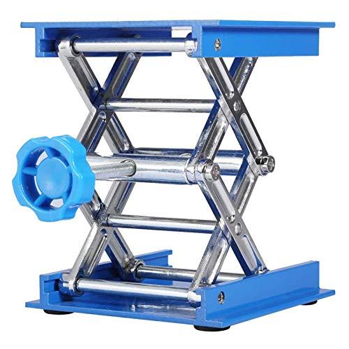 Laborschere Jack Aluminiumoxid Laborständer Lifter Labor Hebeplattform Ständer Rack Hubtisch für wissenschaftliche Hebebühne Plattform Chemielabor 100 * 100 mm