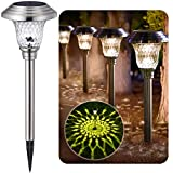 BEAU JARDIN 8 Pack Solar Lights Bright Pathway Outdoor...