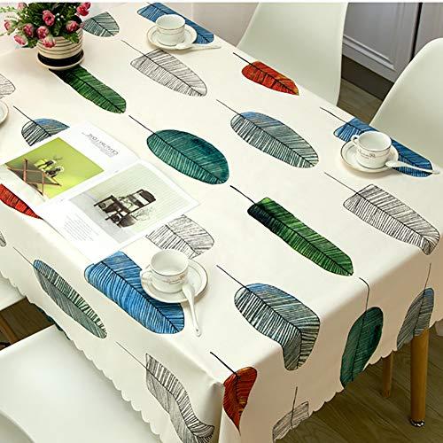 Love House Wasserabweisend PVC Tischdecke Anti-rutsch Löschbare Tischdecken Drucken Rechteckige Tischtuch Zum Abendessen,küche,Partei,Picknick-p 135x160cm(53x63inch)