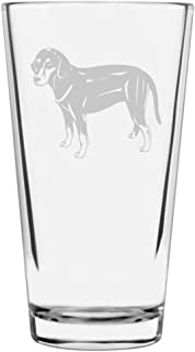 Montenegrin Mountain Hound Dog Themed Etched All Purpose 16oz Libbey Pint Glass