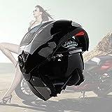 casco de moto mujer negro