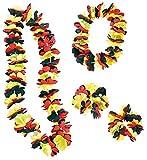 PEARL Fußball-Artikel: 4-TLG Hawaii-Fan-Set Deutschland: Kette, Stirnband & Armbänder (Fanartikel)