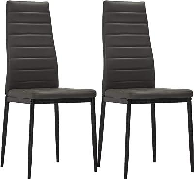Stühle Stuhl Hochlehner Braun Stuhlgruppe Esszimmerstuhl Küchenstuhl 2x