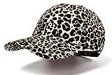 Nabegum Womens Adjustable Leopard Cheetah Print Bun Dad Hat Baseball Cap