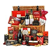 Thornton & France 'The Excelsior' Luxury Christmas Hamper With Red Wine White Wine & Prosecco   Reusable Wicker Basket Full Of Chocolates Sweet Treats & Savoury Snacks   20 Delicious Items