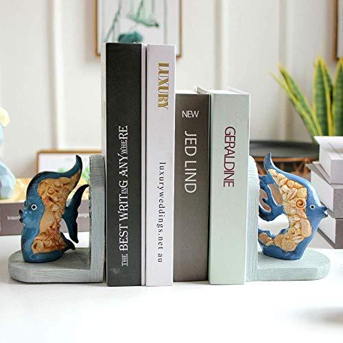 1yess Bookends Mare Animale Pesce Bookends Basamento di Libro Bagagli Ornamento Bookend personalità tavolino della Decorazione Home Furnishings
