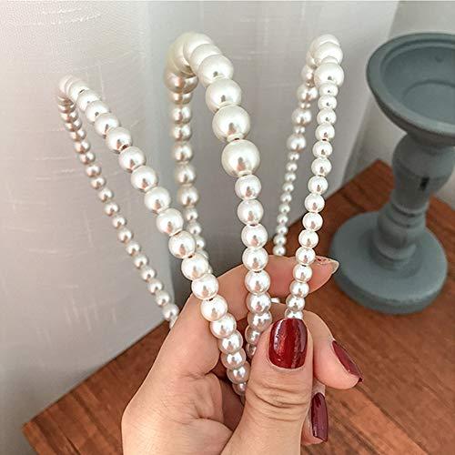 3 Pièces Perles Bandeaux Blanc Faux Perle Strass Bandeaux Cheveux De Mariée Cerceau De Cheveux De Mariage Accessoires De Cheveux pour Les Femmes