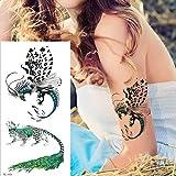 tzxdbh Tatuajes temporales libélula Tatoo Animales de Dibujos Animados Tatuaje Phoenix Falso Tatoo ángel Zorro águila Caballo Tatuaje Etiqueta de Las Mujeres