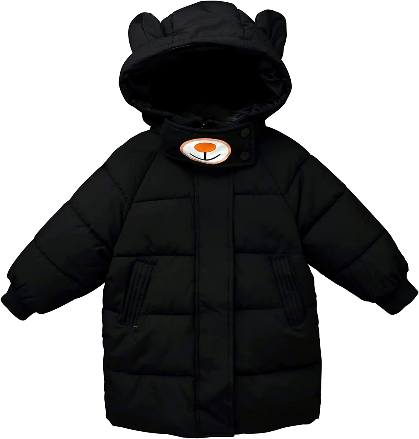Panegy Children Down Jacket Winter Hooded Down Coat with Pocket Zip Up Outwear
