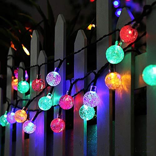 Koopower 4.5M 30er LED Batterie Lichterkette, Fernbedienung 8 Modi IP65 Wasserdicht Kugel Lichterketten, TIMER Dimmbar Lichterkette, für Innen und Außen dekoration, Hochzeiten-Farbe