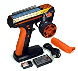 IFSO 2.4GHz 3-Channel FlySky FS-GT3C Transmitter with GR3E Receiver For RC Cars Boat (Orange)