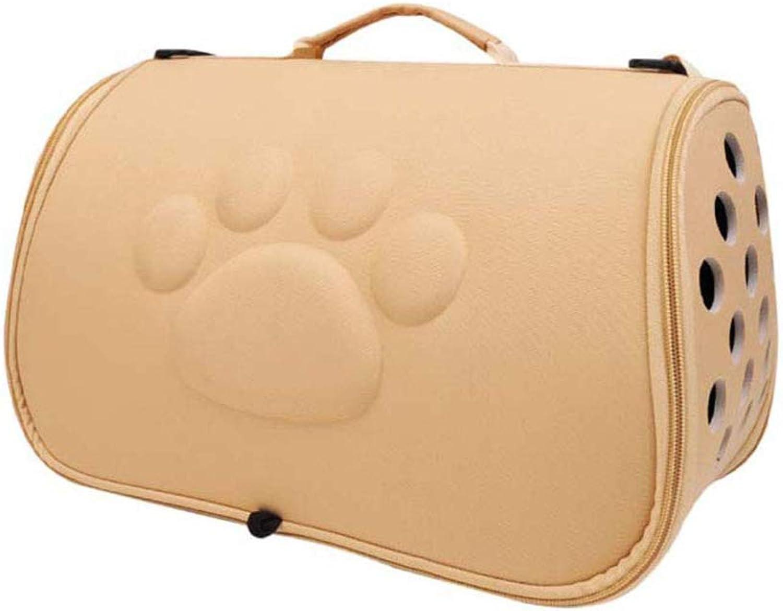 Pet Bag Pet Shoulder Bag Can Portable Pet Bag Breathable Mesh Pet Breathable Carrier Large Capacity Travel Outdoor Kitten Puppy Travel Bag,Yellow,L