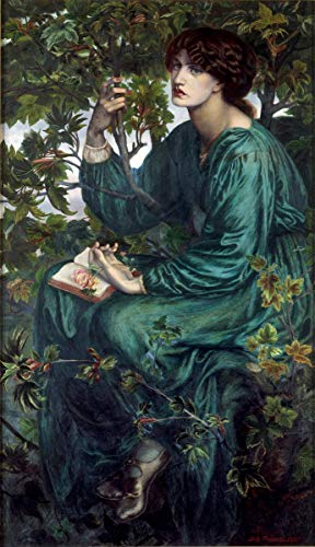 Berkin Arts Dante Gabriel Rossetti Giclee Canvas Print Paintings Poster Reproduction(The Day Dream)