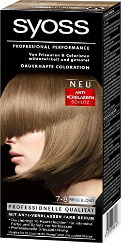 Syoss Coloration 7-8 Beigeblond, 3er Pack (3 x 115 ml)