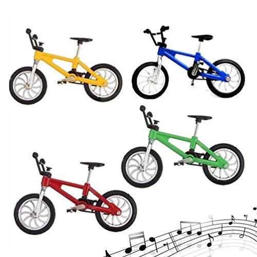 Kisangel 4 Piezas 1: 18 Mini Bicicleta de Dedo Monopatín de Dedo Miniatura Pequeña Bicicleta de Dedo Fresco Juego de Niño Juguete Dedo Movimiento Colecciones Decoración de La Torta