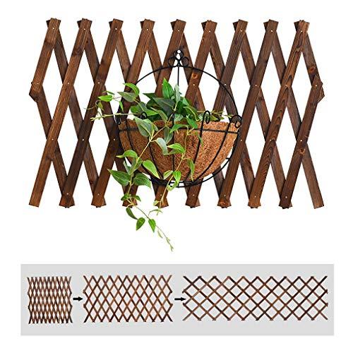 Celosía de Madera Panel de la Cerca Extensible Enrejado Decorativo celosía Marco de Escalada Rejilla Jardín multifunción Plant (Size : 82x29cm)
