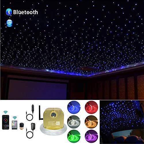 AKEPO 16W RGBW Twinkle Music+APP Control Fiber Optic Lights Star...