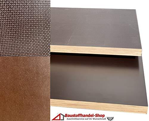 125 x 80 cm Siebdruckplatten 27mm 59,90/€m/² Siebdruckplatte Siebdruck Sperrholz Birke Anh/änger NEU