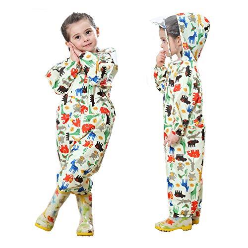 Baogaier Impermeables para Bebé Niñas Niños Chubasqueros Chaquetas Capa de Lluvia Encapuchado...