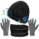 Musica Cappello, Cappello Bluetooth con Altoparlanti Stereo Integrati, Regali Unici per Uomo/Donna, Cappello Sportivo per Corsa/Arrampicata/Escursionismo, ECC (Grigio)