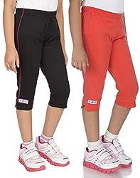 OCEAN RACE Women attarctive Colors Cotton Capris(3/4 Th Pant) Pack of-2