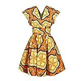 OBEEII - Vestido de mujer Boemo Africano Dashiki - Disfraz tradicional étnico elegante - Vestuario de ceremonia para boda, dama de honor o cóctel Multicolore 009 M