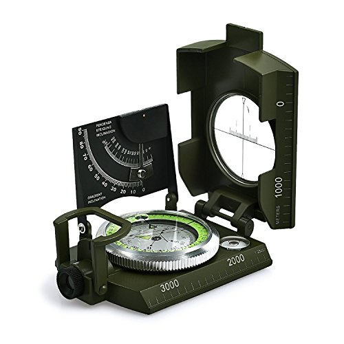 Professioneller wasserdichter Militär-Kompass, aus Metall, mit Transporttasche, für Camping, Jagd, Wandern, Geologie und andere Outdoor-Aktivitäten