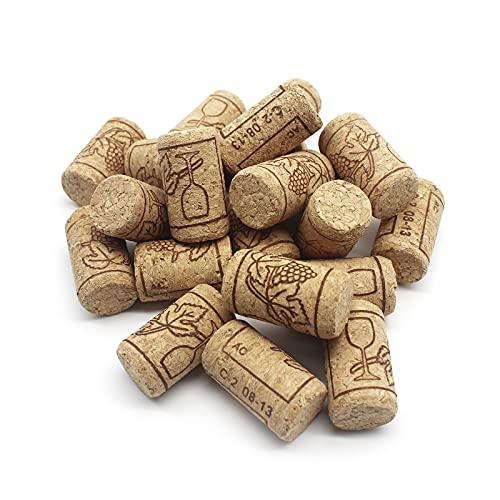 30 PCS Corchos de Vino Tapones de Botella Natural Corcho Natural de Madera Corcho para...