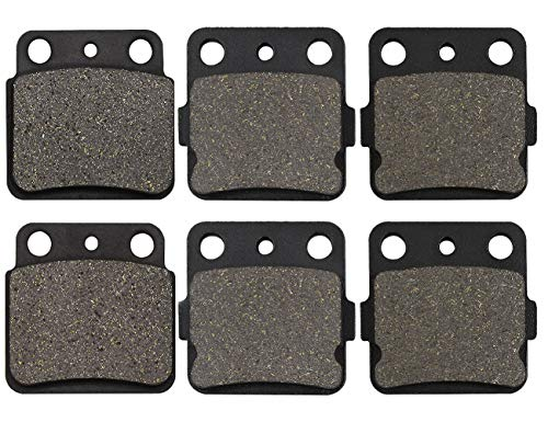 Motorcycle Front & Rear Brake Pads for Suzuki LT-Z 400 LTZ400 Quadsport 400 2003-2012 / Arctic Cat 400 DVX 2004-2008 / Kawasaki KFX400 2003-2006