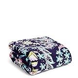 Vera Bradley Fleece Plush Throw Blanket, French Paisley, 80' x 50'
