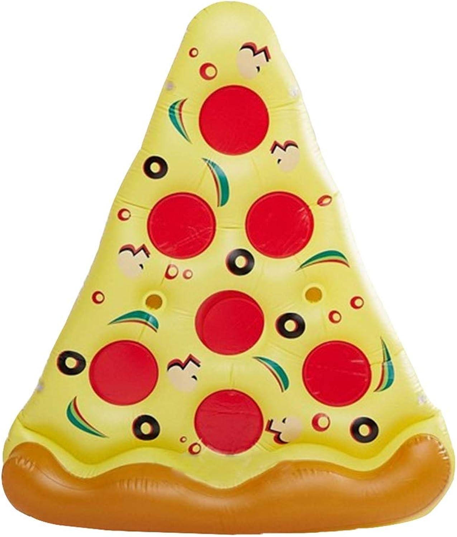 Pool Spielzeuge Aufblasbares Kissen Für Pizza Schwimmendes Bett Für Schwimmbecken Schwimmende Insel FotografieRequisiten Aufblasbare Lastaufnahme 90kg (color   Yellow, Size   180  130cm)