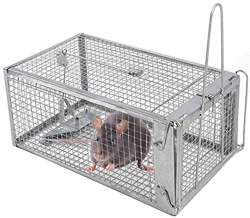KIMIMARA Umano Trappola per Topi, Trappola in Metallo, Ferro Gabbia Trappola per La Cattura Topi, Ratti, Trappola per Ratto Senza Ucciderli