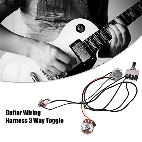 Arnés de cableado de guitarra de 3 vías duradero para guitarra eléctrica con 2 Humbuckers
